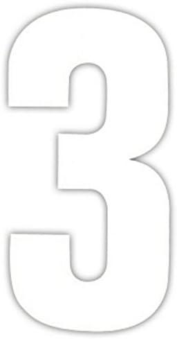 number /'5/' Four White Wheelie Bin Number Stickers