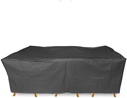 YUBU Lona, 210D Impermeable Oxford Tela Exterior Jardín Negro Cubierta de muebles Jardín Impermeable Antipolvo Protector solar Mesa rectangular Cubierta de mesa y silla al aire libre, una variedad de: Amazon.es: Hogar