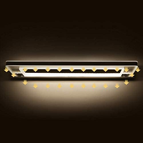Cxjff LED Badezimmerspiegel Schranklampe Schminktisch Kosmetikspiegelleuchte Moderne Wandleuchte 9W 12W LED Makeup Wall Light (Size : 64cm(12w))