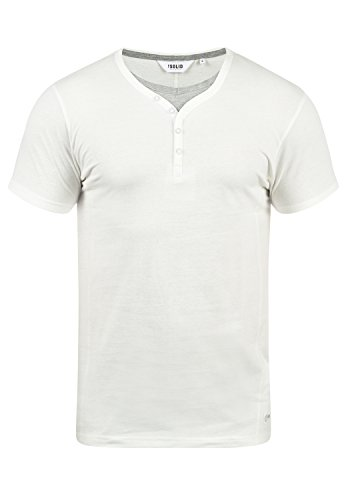 Off Hombre Cuello Corta Dorian 0104 Con Grandad solid T White Camiseta Básica De shirt Manga Para pqOz1q