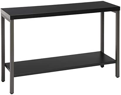 OFM Core Collection 44 Modern Console Table with Shelf, Black 70003-BLK-BLK