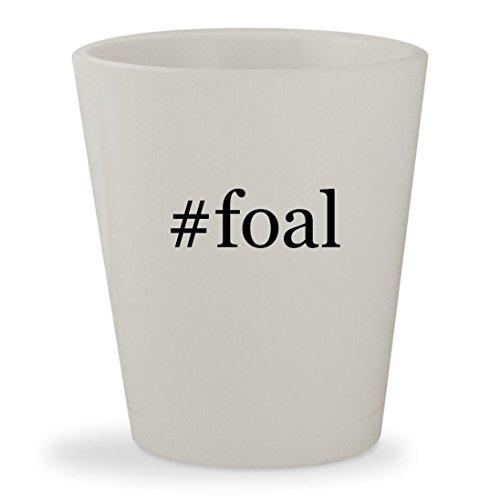 #foal - White Hashtag Ceramic 1.5oz Shot Glass
