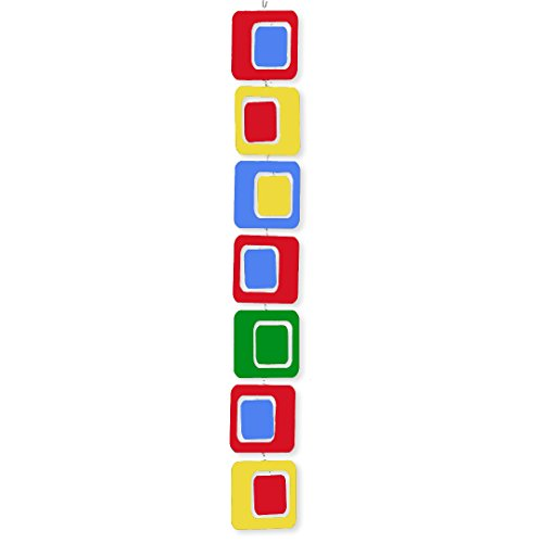 Coolsville in Bold Multi Colors Red Blue Yellow Green – Hanging Modern Art Mobile – Groovy Kinetic Fun! 3 Sizes to Choose From 31tMWJT46eL