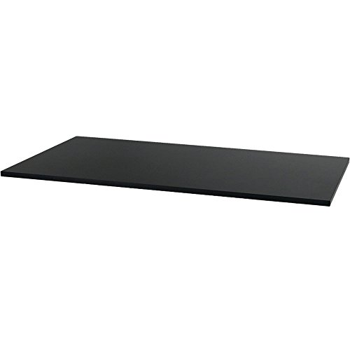 Rectangle Laminate - CASL Brands Rectangle Laminate Table or Desk Top, 59 x 29-Inch, Black Finish