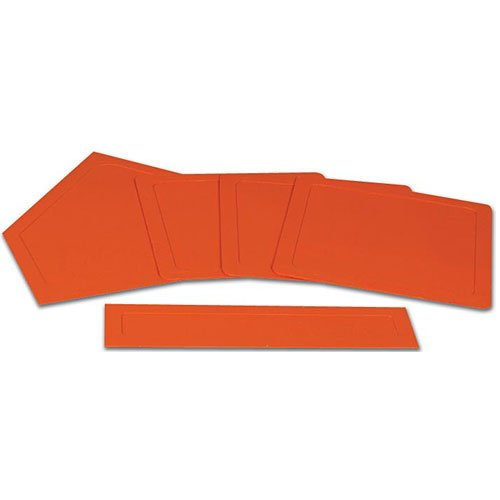 CHAMPRO Throw Down Rubber Bases, Boxed (Orange) by CHAMPRO