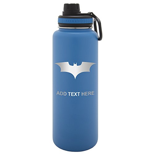 Army Force Gear Personalized Engraved Batman Begins the Dark Knight Laser Engraving Thermoflask Leak Proof Insulated Stainless Steel Workout Sports Water Bottle Tumbler, 40 Oz, (Batman Personalized)