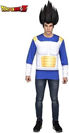 Dragon Ball Camiseta Disfraz de Vegeta Hombre: Amazon.es: Juguetes ...