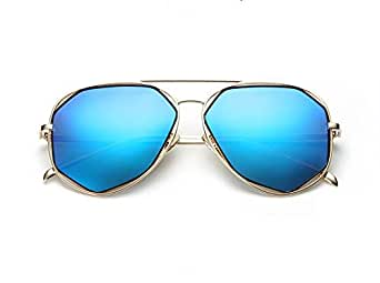ROUPAI Fashion Women metal Frame polarized blue sunglasses