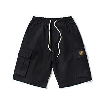 CHLCH Pantalones Cortos de algodón para hombresHerramientas Multi ...