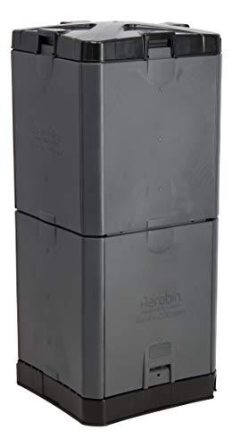 Exaco Aerobin 200-Grey Insulated Composter Bin, 55 Gallon