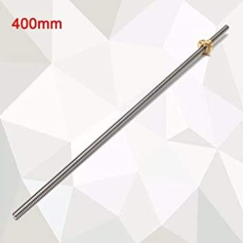 T8 Mutter F/ür CNC 3D Drucker Reprap 600Mm Blei 2Mm Edelstahl Bleischraube 600mm BouBou 8Mm 300//400//500