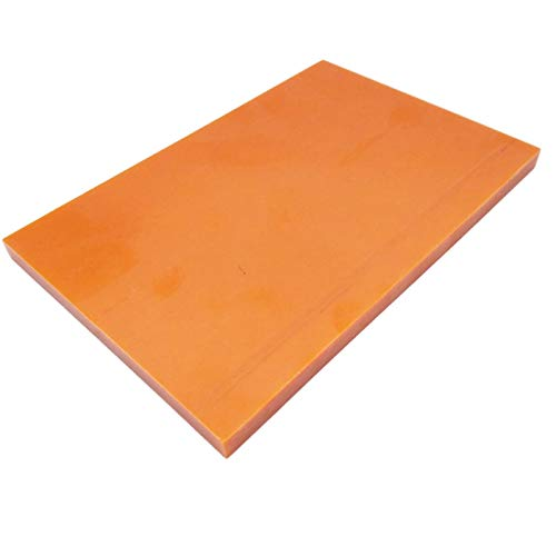 (2pcs Red Bakelite Phenolic Resin Flat Plate Sheet PCB 8 x 100 x 150mm)