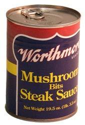 - Worthmore Mushroom Bits Steak Sauce 19.5 Oz (Pack of 6)