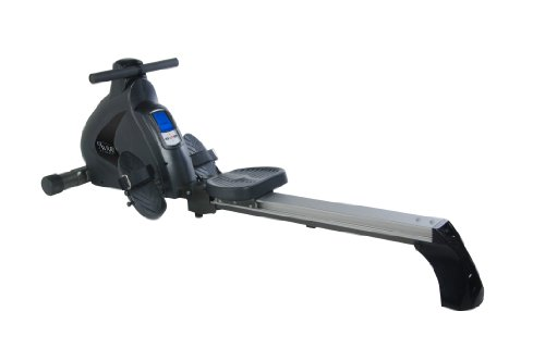 Avari Stamina A350 700 Programmable Magnetic Exercise Rower, Black/Silver