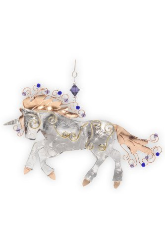 Pilgrim Imports Unicorn Metal Fair Trade Ornament