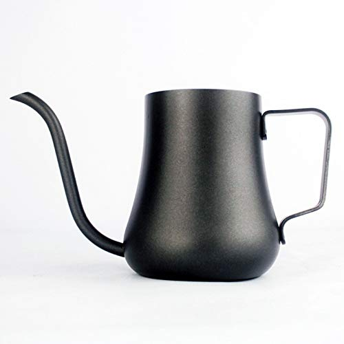 SODIAL Stainless Steel Gooseneck Drip Kettle Non-Stick Milk Frothing Jug Swan Neck Drip Coffee Tea Pot Teflon Coating