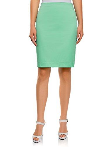 oodji Collection Femme Jupe Droite Basique Vert (6500n)