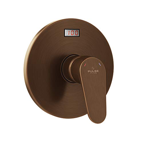 (PULSE ShowerSpas 3002-RIV-PB-ORB Tru-Temp Pressure Balance Rough-In Valve Trim Kit, LED Temperature Display, Round, 1/2