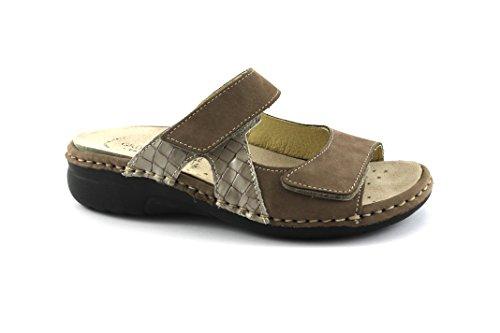 Grünland LABA CE0531 zapatillas gris oscuro dama inconvenientes footbed extraíble Marrone