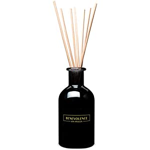 Benevolence LA Reed Diffuser Set | Calming Lavender & Eucalyptus Scented Diffuser Sticks | Aromatherapy Oil Scented Oil Reed Diffuser | Relaxing Fragrance Diffuser for Home, Apartment & Office