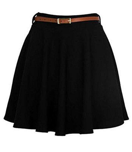 f4baa8bbc32f Silva   Sons Women s Ladies Belted Flared Mini Skater Skirt 8-14 ...