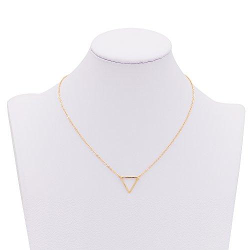 Zealmer Simple Pendant Necklace Triangle