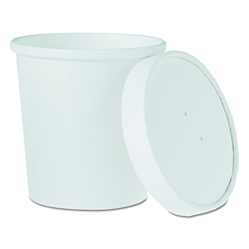 SOLO Cup Company KHB16A Flexstyle Double Poly Food Combo Pack, 16 Oz, White, 25 Per Pack (Case of 10 Packs)