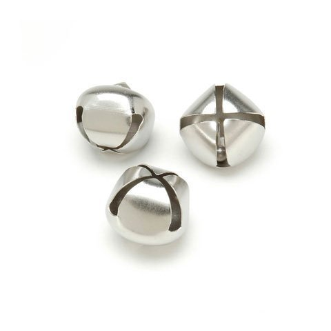 Bulk Buy: Darice DIY Crafts Jingle Bells Silver 1 inch 18 pieces (6-Pack) 1099-25