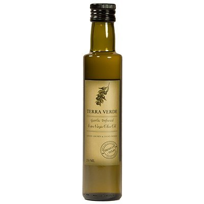 - Terra Verde Garlic Infused Extra Virgin Olive Oil, 250ml (8.5oz)