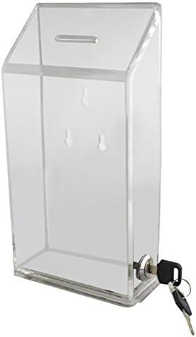 con finestra frontale e serratura My Charity Boxes-Scatola in acrilico per le donazioni//suggerimenti