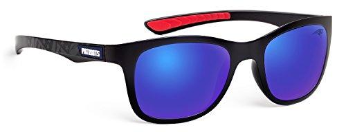 Officially Licensed NFL Sunglasses, New England Patriots, 3D Logo on Temple - 100% UVA, UVB & UVC - Patriots Sunglasses
