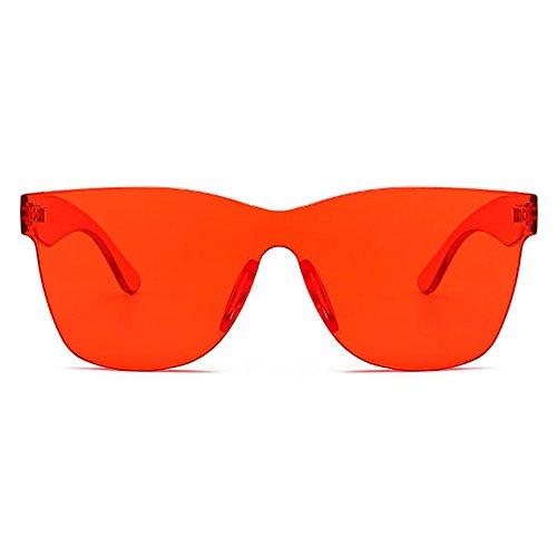Partido Verde clear red TIANLIANG04 Azul Regalo Transparente Mujeres Color Pedazo Del Un Para Sol Unisex Rosa Caramelos Claro De Hombres Rojo Azul Gafas Sol De Gafas De BqfrzFBnx4