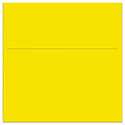 """100 Yellow Square Envelopes - 5.5"""" x 5.5"""" - Square Flap"""