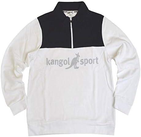 KANGOL SPORT(カンゴールスポーツ)トレーナー ハーフZIPプルオーバー fo-kgs03(オフm)