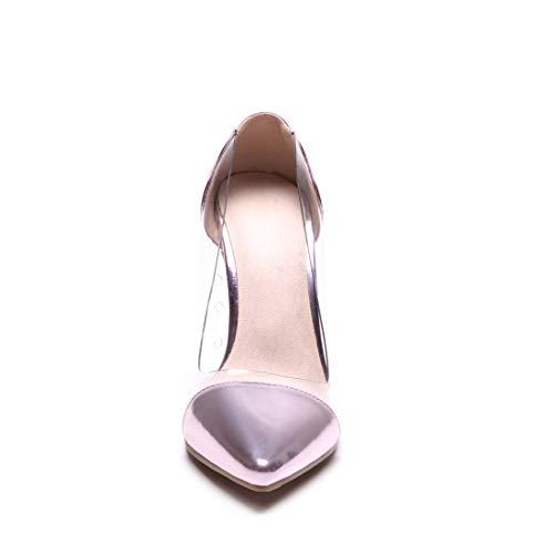 Eleganti A Con Trasparenti Metalliche Rosa Slip On Tacco Donna Scarpe Spillo Punta Vitalo Decolte Alto xtqYFpIIw