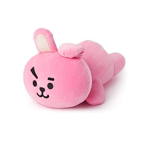 BT21 Official Merchandise by Line Friends - Cooky Mini Cushion Stuffed Pillow, Pink