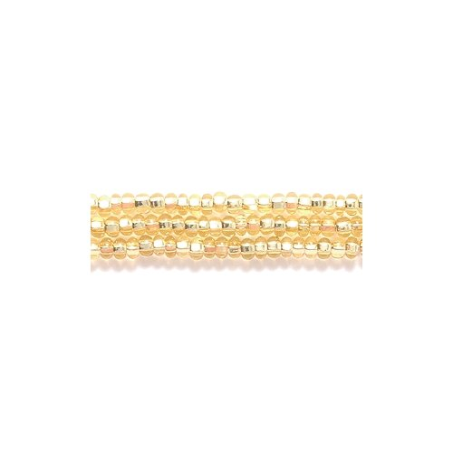 Preciosa Ornela Czech Seed Bead, Silver Lined Light Gold, Size 11/0 (Gold Silver Lined Czech Seed)