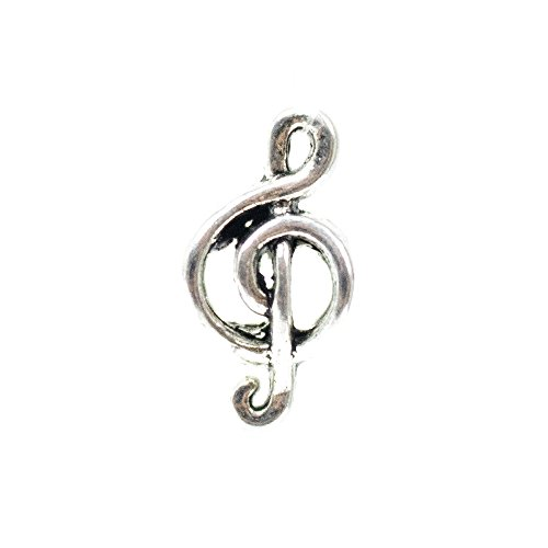 Musical Note Treble Clef Beads for 550 Paracord Bracelets, Key Chains and Lanyards - Available in Single, 5, 10, and 20 Packs (5 pack)