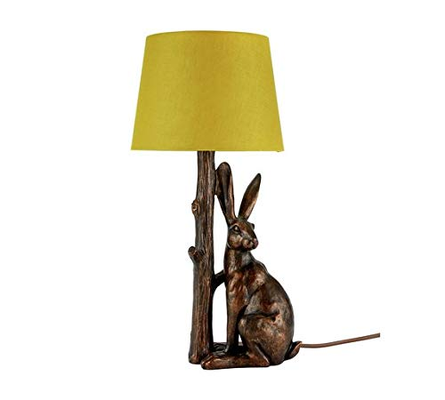 Home Hare Table Lamp Bronze & Ochre