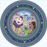 Joy Carpets Kid Essentials Infants & Toddlers Oval Humpty Dumpty Rug, Multicolored, 3'10