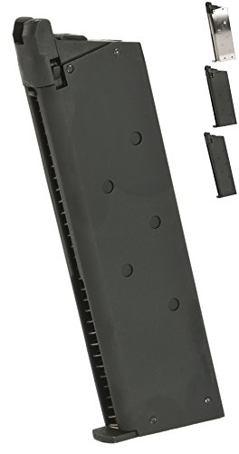 Evike Matrix 25 Round Detonics Magazine for Gas Powered Detonics .45 and Standard 1911 Airsoft Pistols - Black - - Magazines Powered Gas Airsoft
