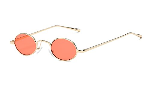 FEISEDY Vintage Small Round Sunglasses 2018 Retro Slender Metal Frame Candy Colors B2422