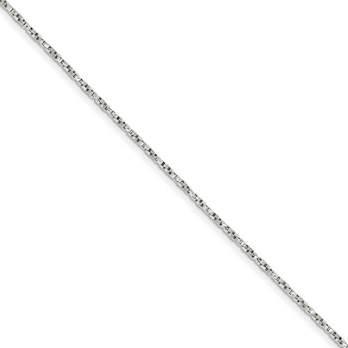 Roy Rose Jewelry Sterling Silver 1.25mm Twisted Box Chain 16'' Length - 16' Twisted Box Chain
