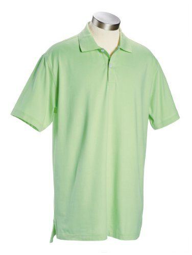 Men's Ashworth Classic Solid Pique Polo, Bamboo, 2XL (Classic Solid Pique Polo)