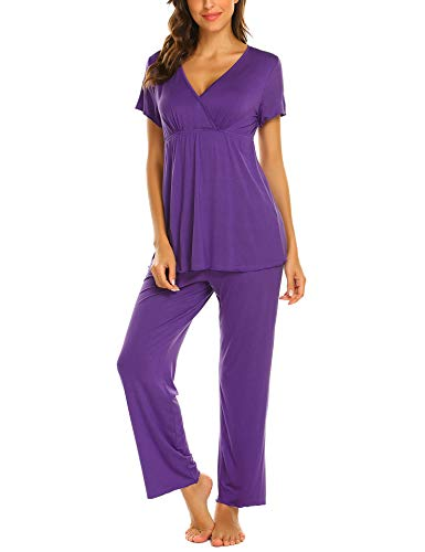 Unibelle Pezzi Corte Pigiama Purple Donna Medium Maniche Due vRrHzwcqv