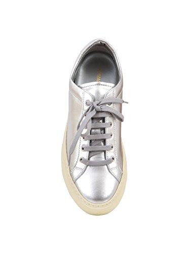 Progetti Comuni Da Donna 38390509 Sneakers In Pelle Argento