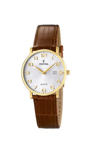 (Festina Ladies Watch F16479/2 With Brown Leather Strap)