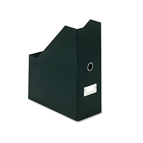 Snap-N-Store Jumbo Magazine File Box, Black Fiberboard with Content Label Holder, 4.50 Inches Width x 11.25 Inches Depth -
