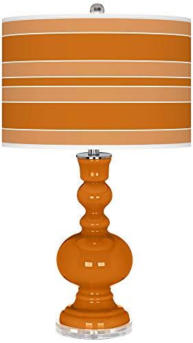 Cinnamon Spice Bold Stripe Apothecary Table Lamp - Color + Plus
