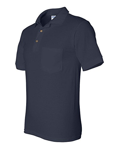 Gildan G890 5.6 oz. Ultra Blend 50/50 Jersey Polo with Pocket, Navy, XXXXX-large (Classy Outfits For Men)